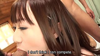 Subtitled uncensored Oriental unclothes group meeting oral job game in HD
